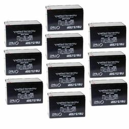 10 PACK UPG UB12120 12V 12AH F2 Replacement Battery for Sola