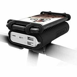 10000mAh 2-Port Power Bank,2 In Portable Charger/Bike Phone