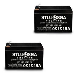 2 PACK AB12120 12V 12AH F2 Replacement Battery for Solar Pow
