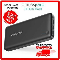 RAVPower 26800mAh Power Bank Battery Pack Tri-output RP-PB41