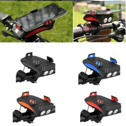 4 in 1 Bicycle Light Bike Accessories Powerbank Phone Holder