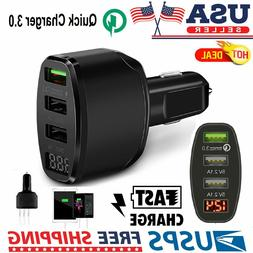 3 Port Multi Car Cigarette Lighter Socket Power Adapter Phon