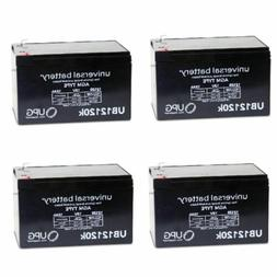 4 PACK UPG UB12120 12V 12AH F2 Replacement Battery for Solar