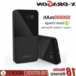 500000mAh Portable PowerBank USB LCD External Charger Additi