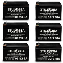 6 PACK AB12120 12V 12AH F2 Replacement Battery for Solar Pow