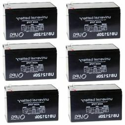 6 PACK UPG UB12120 12V 12AH F2 Replacement Battery for Solar