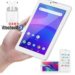 """7"""" Android 9.0 Slim Tablet PC Phablet 4G GSM SmartPhone Blue"""
