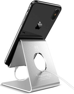 Cell Phone Lamicall Stand Cradle Dock Holder Silver Compatib