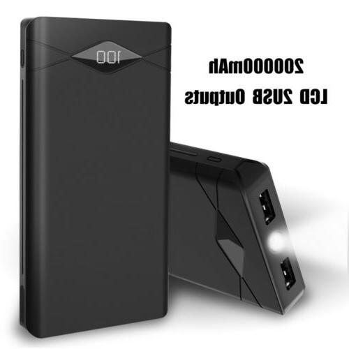 300000mAh External Battery Charger Solar Power Bank For Phone US