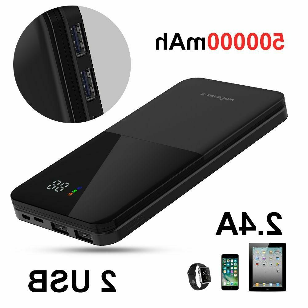 500000mAh PowerBank LCD External Charger Additional Battery Charger