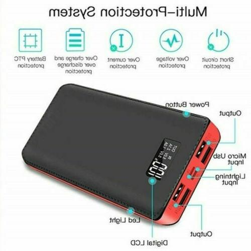 900000mAh High 4USB Portable Pack LED