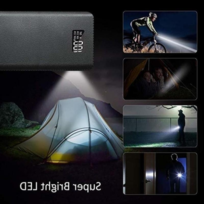 900000mAh 4USB Portable LED Charger