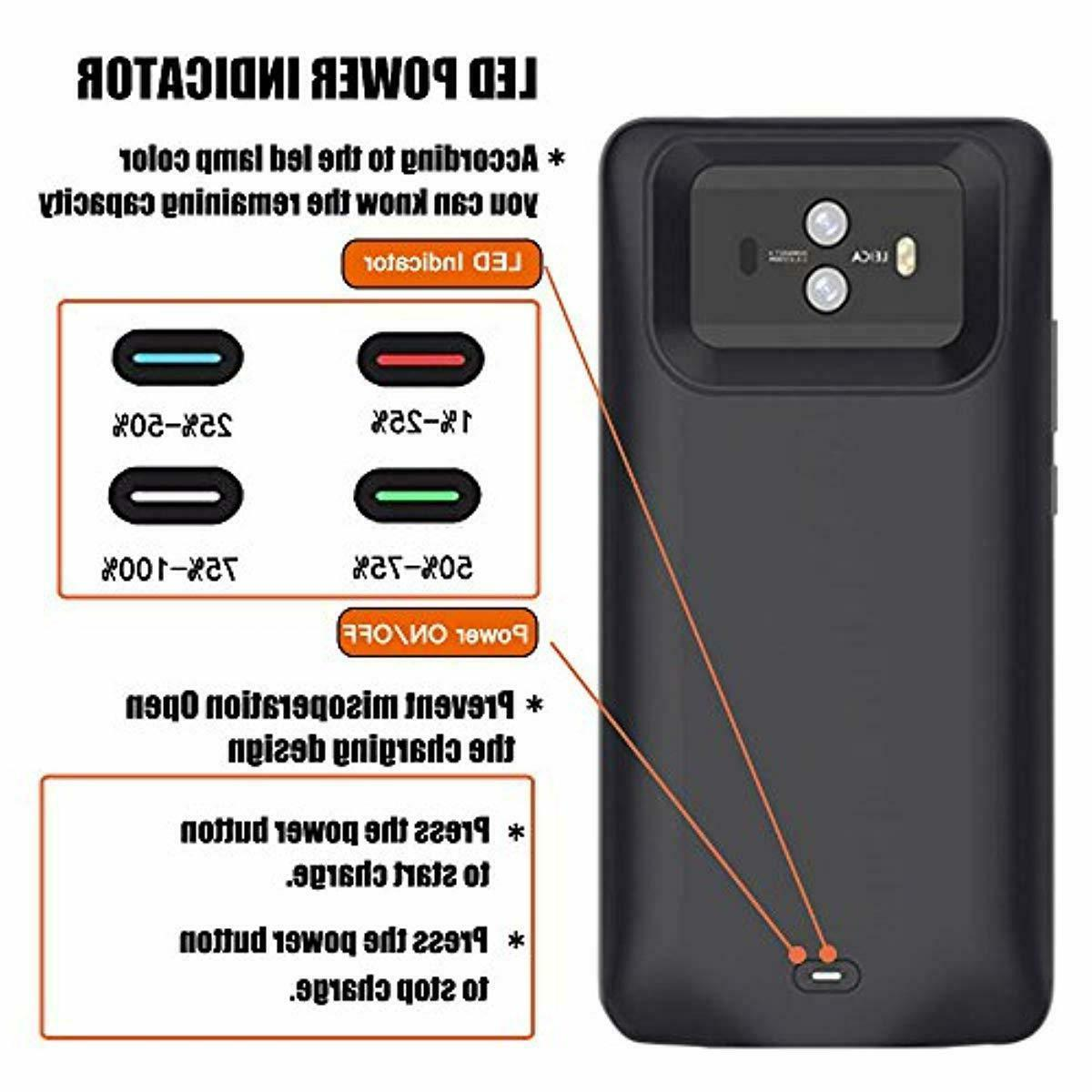 Idealforce Huawei Battery Charger Case,6000mAh Magnetic