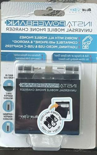 insta powerbank universal cell phone charger works
