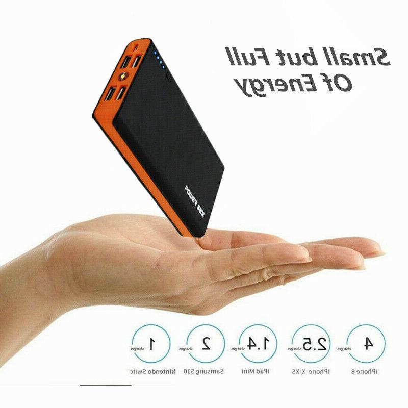 New 4USB PowerBank Portabl LED Fast Charger For