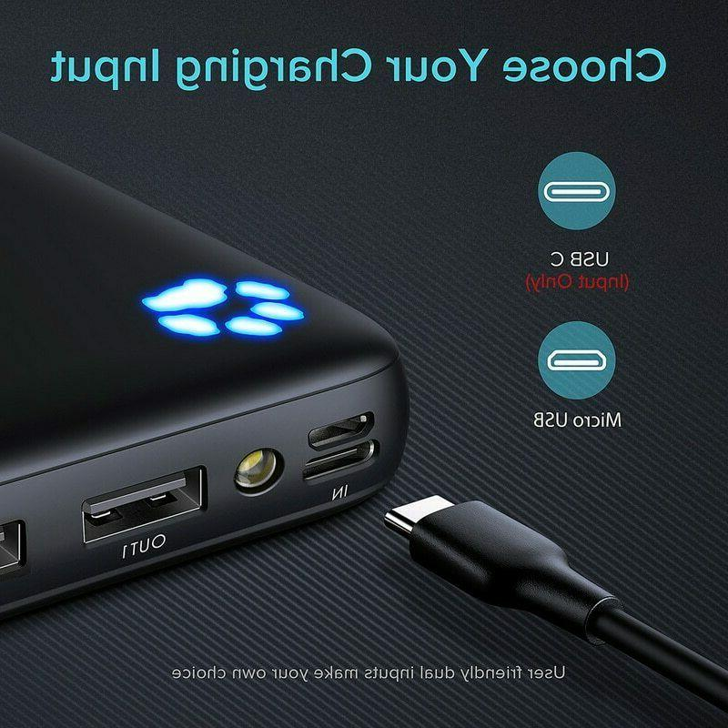 20000mAh USB Port Portable Charger Battery Pack