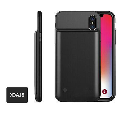 iphone x 5000mah powerbank black rechargeable protective