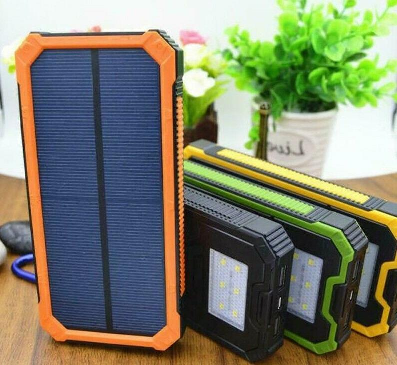solar charger portable powerbank waterproof led light