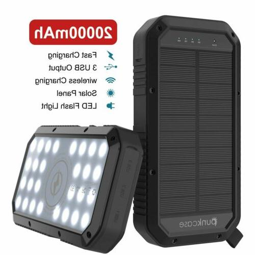 PunkCase Solar 20000mah Battery Pack for iPhone X/XS/Max/XR /