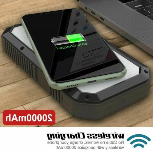 PunkCase Solar Wireless 20000mah Battery Pack for iPhone X/XS/Max/XR