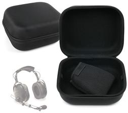DURAGADGET Large Matte Black Tough EVA Storage Case for Flig