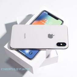 New Apple iPhone X 64GB 256GB Silver Gray Factory Unlocked T
