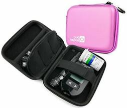 DURAGADGET Pink Rigid Insulin Diabetes Medical Supplies Shel