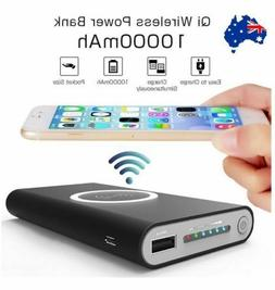 Qi Wireless Charger portable Powerbank 10000mAh  Battery for