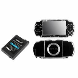 INSTEN® Rechargeable Battery+Clear Hard Case Cover For Sony
