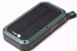 solar powerbank 8000mah 3 port usb portable