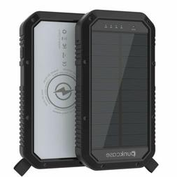 PunkCase Solar Wireless PowerBank 20000mah Battery Pack for
